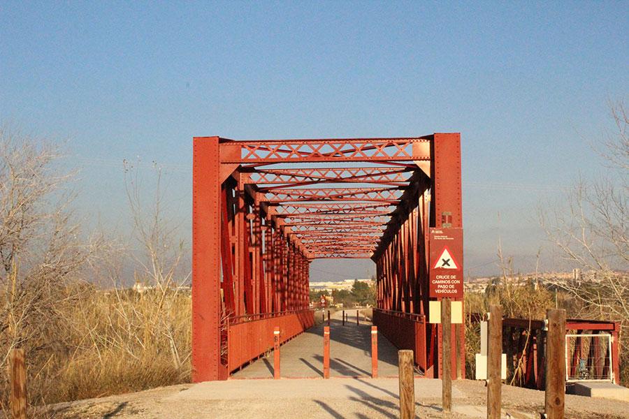 Camino de Caravaca Puente metalico